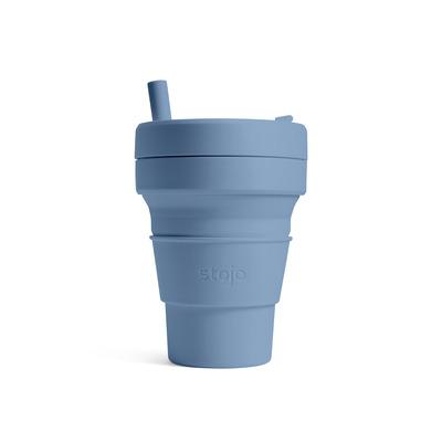 Faltbarer Becher Biggie | 470 ml Stahlblau