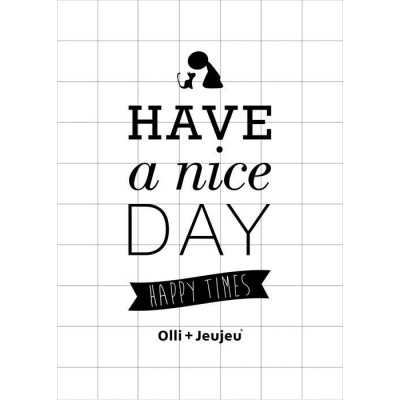 Have A Nice Day Poster | Schwarz