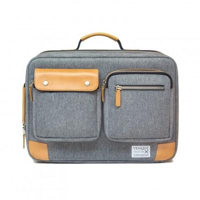 Briefpack XL | Grey & Tan