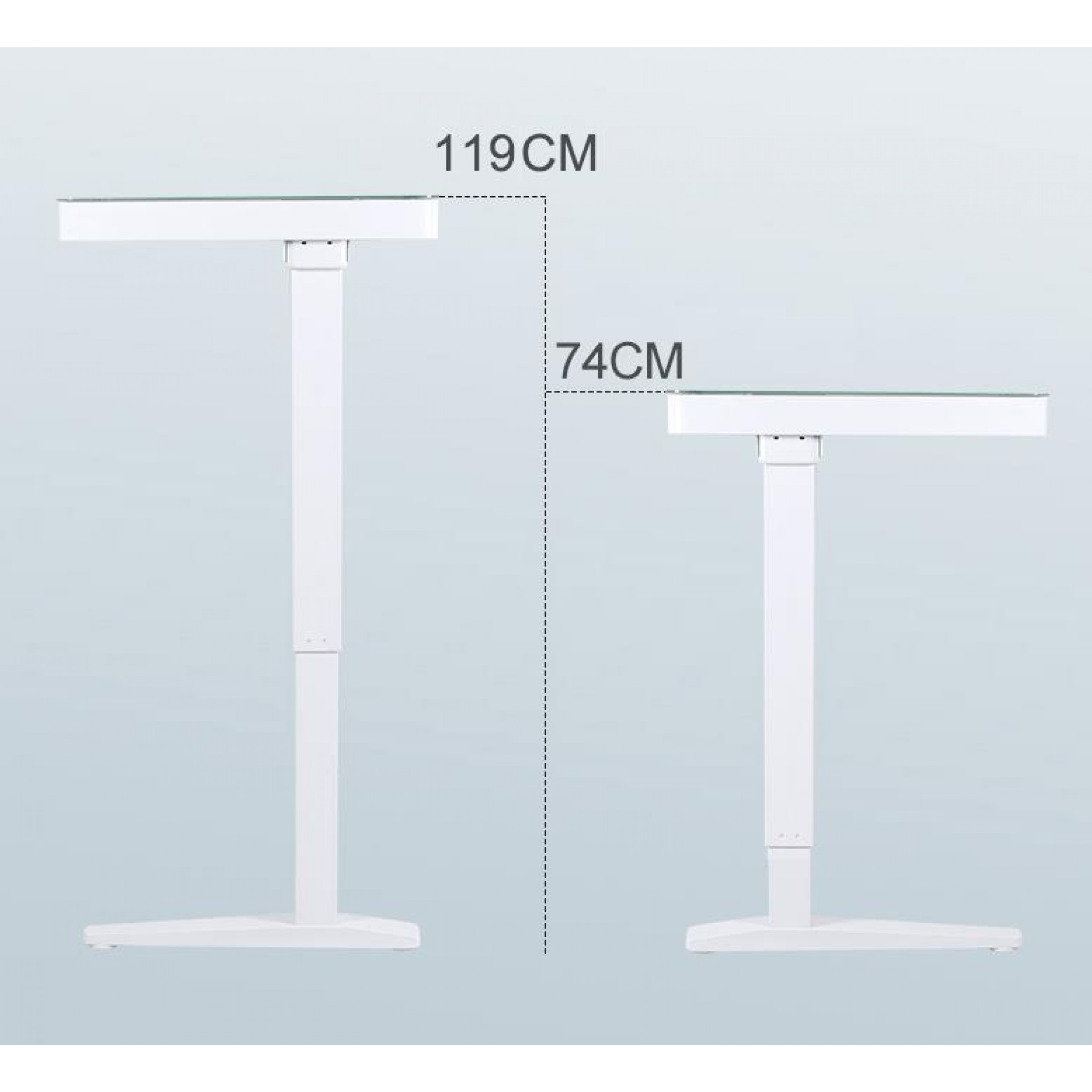 Elektrisch verstellbarer Schreibtisch | Schwarz