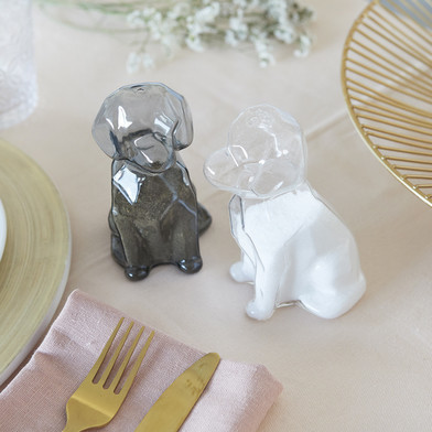 Salz- und Pfeffermühle Sphinx Dogs | Klar Grau