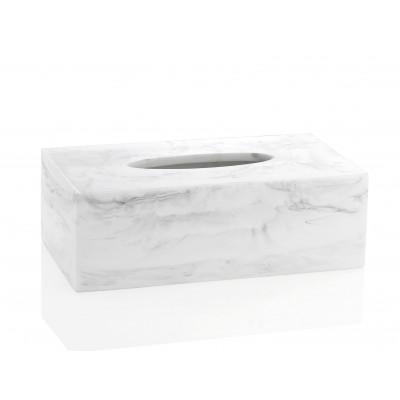 Tissue Box | White Marble
