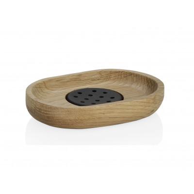 Soap Dish | Natural Wood/Black