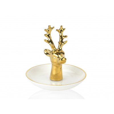 Jewelry Stand Deer | White/Gold