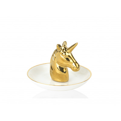 Jewelry Stand Unicorn | White/Gold