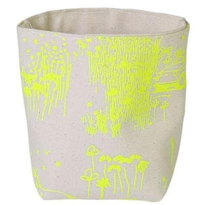 Aufbewahrungstasche Gelb Toile de Jouy   Klein