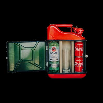 Geschenkpaket Jerrycan Bar Bacardi 10 L | Rot