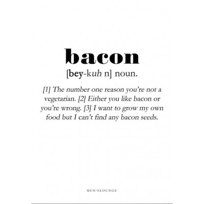 Poster Definition   Bacon