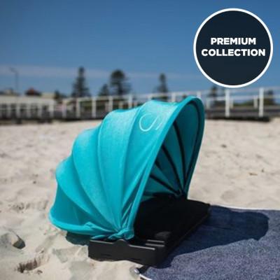 Sonnenschutz Premium mit Extras | Blaugrün