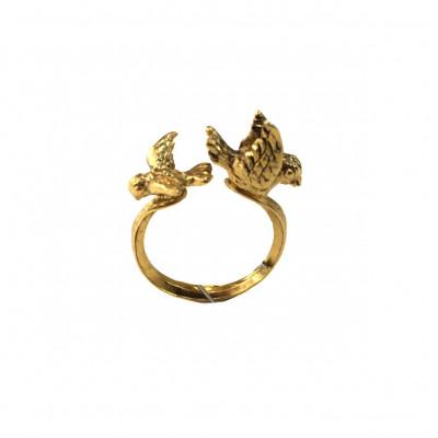 Ring Birds   Gold