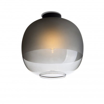 Bale Ceiling Lamp | Smoked Glass
