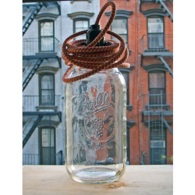 BALL JAR LAMP Houndstooth Pulley