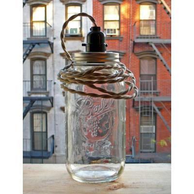 BALL JAR LAMP Putty 2-Draht