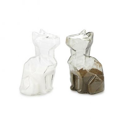 Salz- und Pfeffermühle Sphinx Cats   Klar Grau