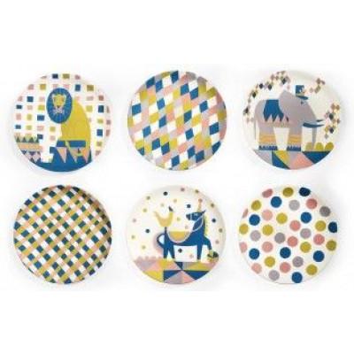 Bamboo Children's Cake Plates   Circus