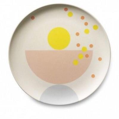 Bamboo Children's Plate   Dots