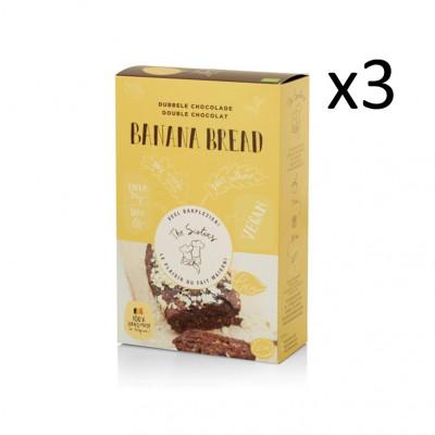 Bananenbrot 295 g 3er-Set | Zweifache Schokolade