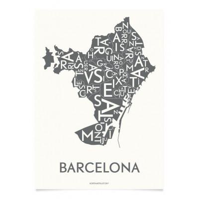 Barcelona-Poster | Grau