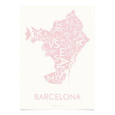 Barcelona-Poster | Staubige Rose