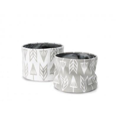 Set of 2 Baskets | Arrows Grey