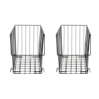 Metal Rectangular Baskets   Set of 2