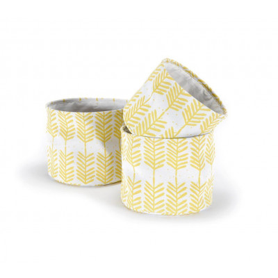 Set of 3 Baskets | Feathers Yellow