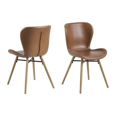 Set de 2 Chaises Matilda-A1 | Brun & Bois