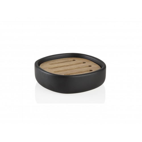 Soap Dish | Black/Acacia