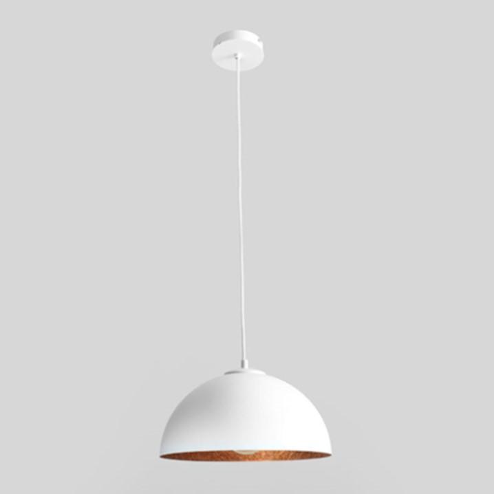 Deckenlampe Lord | Kupfer & Weiß-M