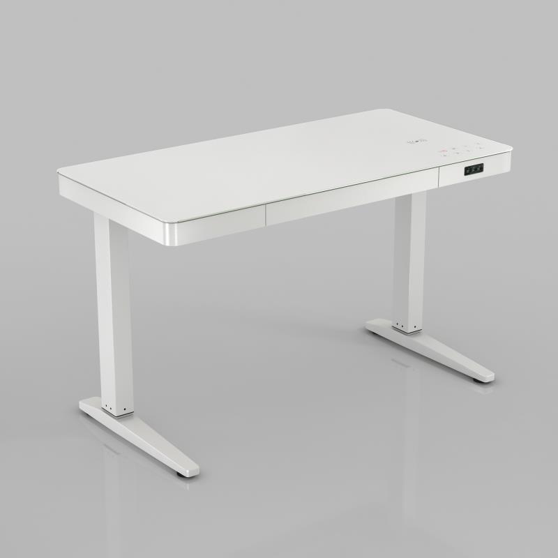Elektrisch verstellbarer Schreibtisch | Weiß