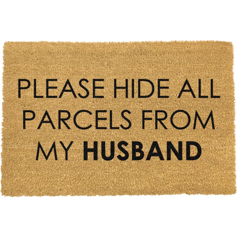 Fußmatte | Please Hide all Parcels from Husband