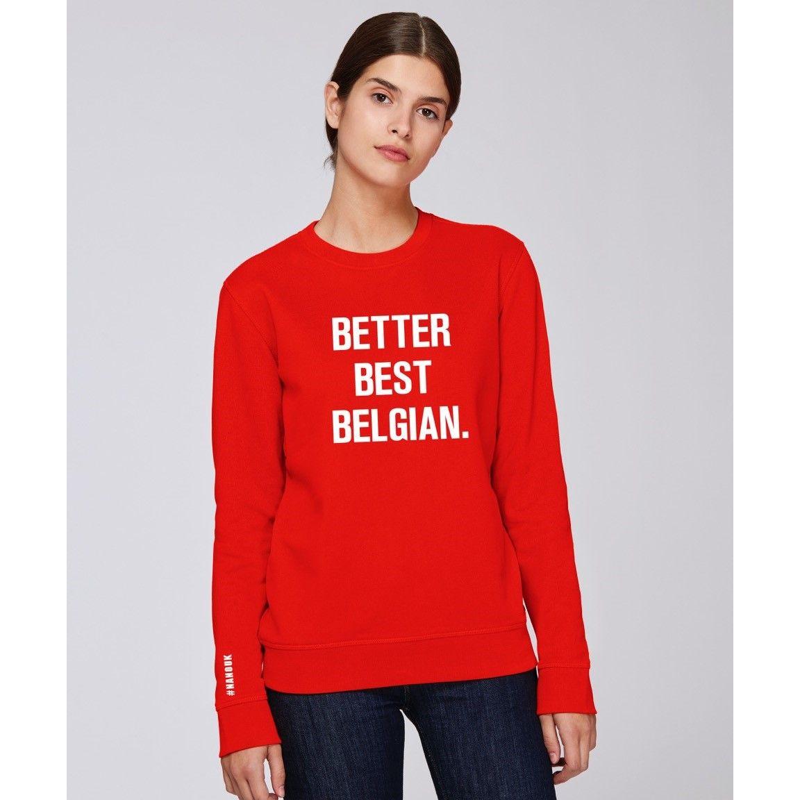 Red Sweater #NANOUK | Better Best Belgian