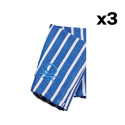 3er-Set Küchentücher/Serviette Po Be I Blau
