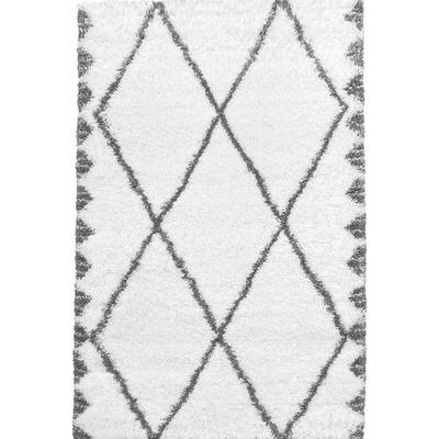 Carpet Payidar Shaggy 3892A I White-Grey 160x230 cm