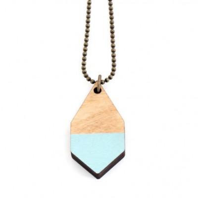 Diamante Small Necklace   Baby Blue