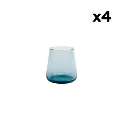 Set of 4 Water Glasses Host | Blue Grey