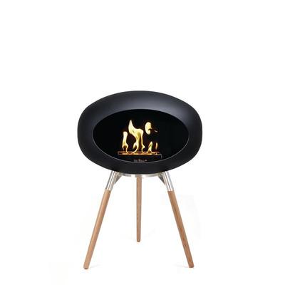Bio Fireplace Ground Wood Black 45 cm | Soap Treated Oak