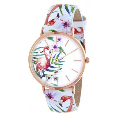 Flamingo Watch | Rose Gold & White