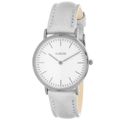 Silver Watch | White