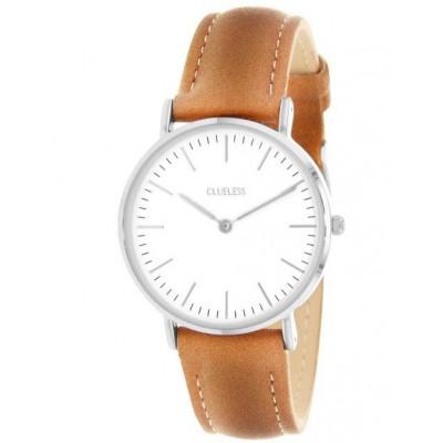 Silver Watch | Tan
