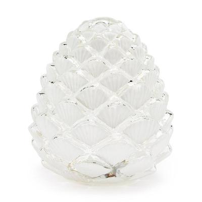 LED-Beleuchteter Kiefernzapfen | Weiß