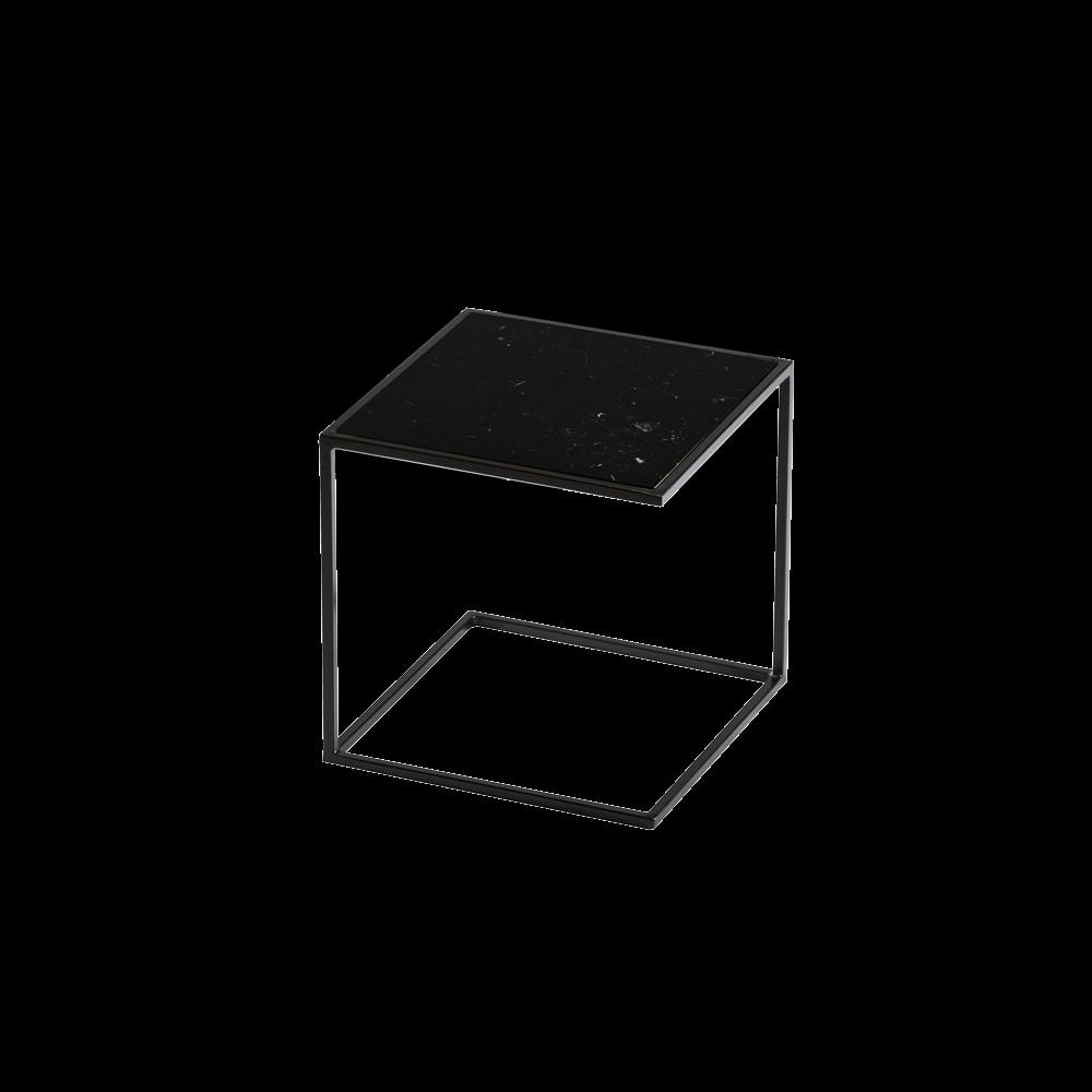 Side Table NOA Steel Frame & Marble   Black