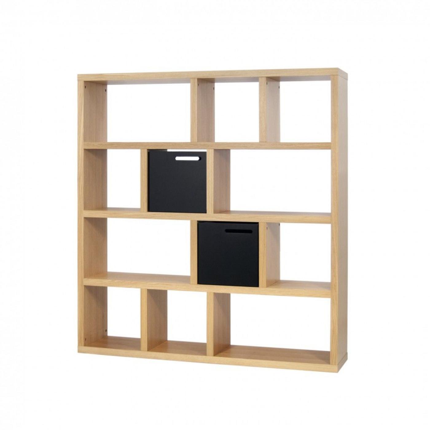 Bookcase 4 Levels Berlin | Oak
