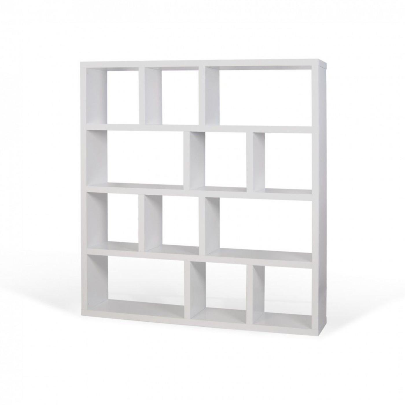 Bookcase 4 Levels Berlin | White