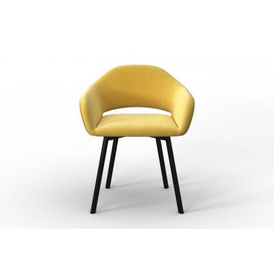 Stuhl Oldenburg | Gelb-Samt Touch