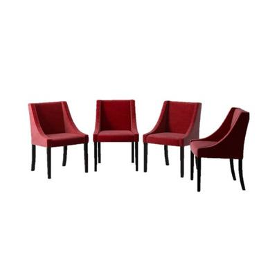 4er-Set Esszimmerstühle Creativity Velvet | Rot