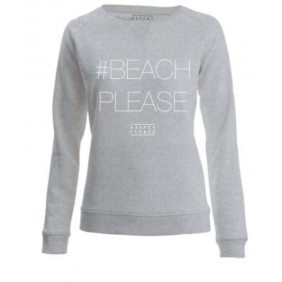 #BEACHPLEASE Sweater Long Sleeves | Grey