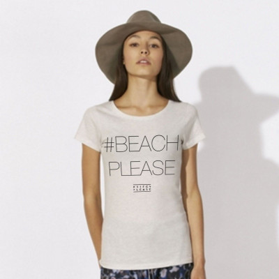 #BEACHPLEASE T-shirt | Cream