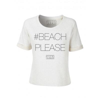 #BEACHPLEASE Sweater Short Sleeves | Cream