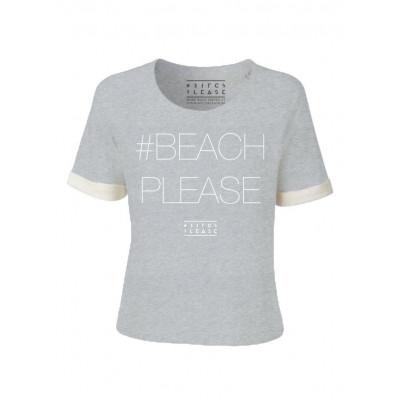 #BEACHPLEASE Sweater Short Sleeves | Grey